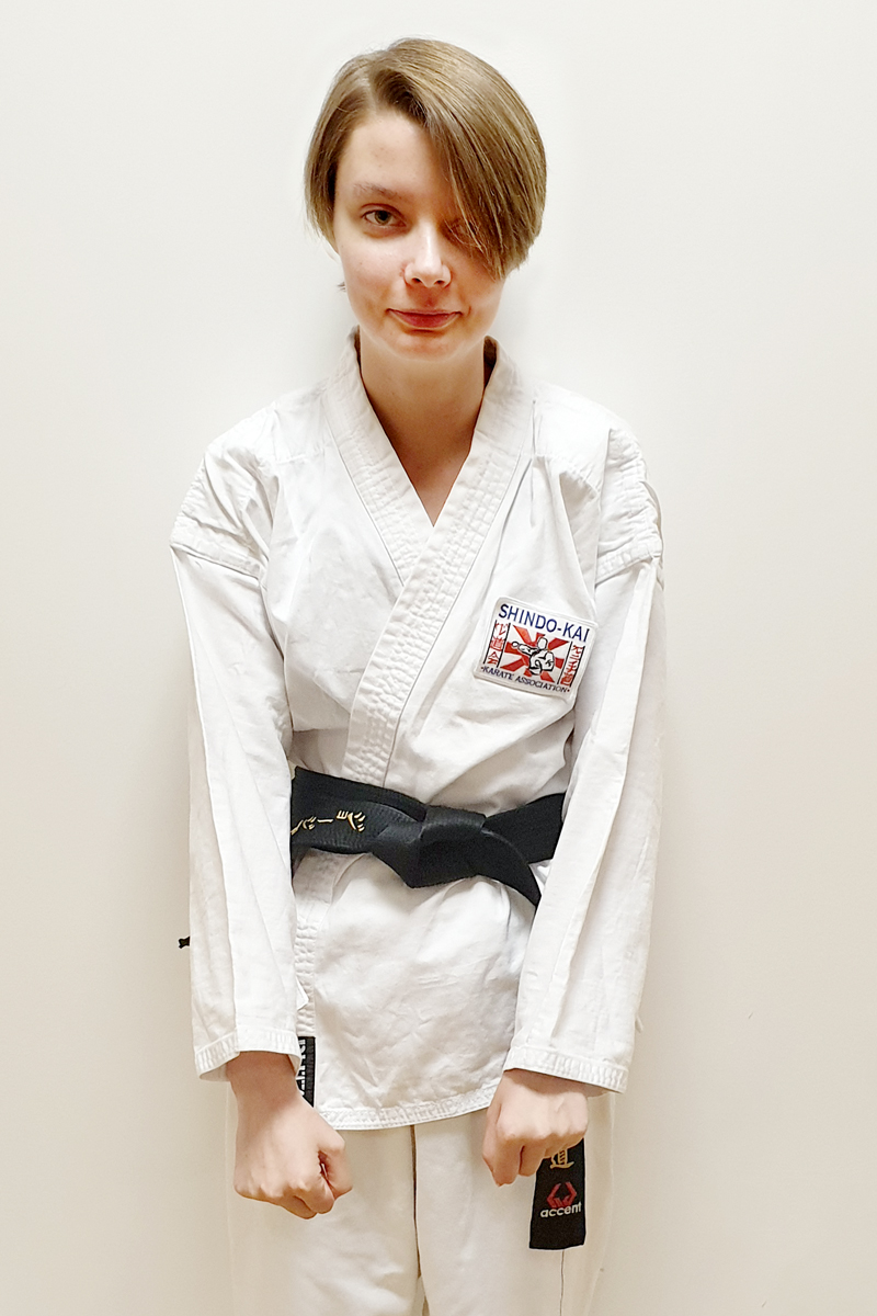 sensei Georgia Andrews 2nd Dan